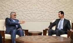 اسد در دیدار با بروجردی