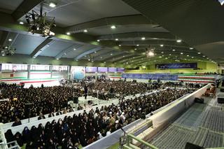 حضور و سخنرانی آیتالله خامنهای رهبر انقلاب اسلامی در دانشگاه فرهنگیان