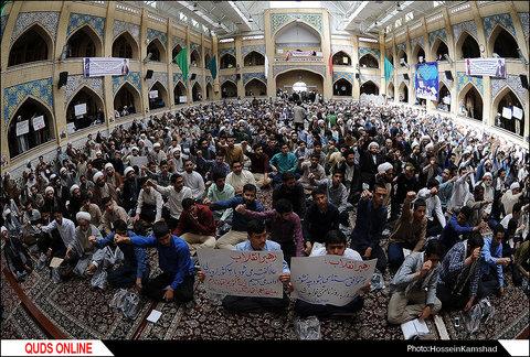 تجمع بزرگ طلاب و فضلای حوزه علمیه خراسان رضوی / گزارش تصویری