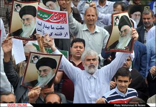 راهپیمایی ضداستکباری مردم مشهد پس از نماز جمعه