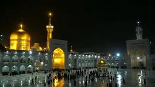 عکس بارش باران رحمت در حرم مطهر امام رضا ع