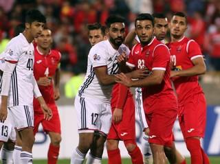 دیدار تیم های فوتبال پرسپولیس و الجزیره