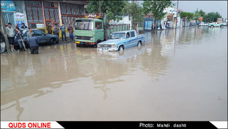 خسارات ناشی از باران شدید در نیشابور