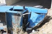 مرگ راننده نیسان در چناران بر اثر واژگونی خودرو