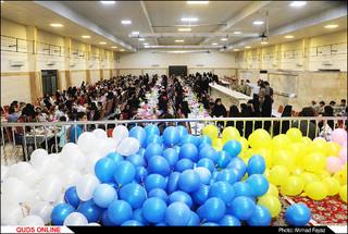 اطعام و افطاری خیر مشهدی در مجتمع آیه ها- گزارش تصویری