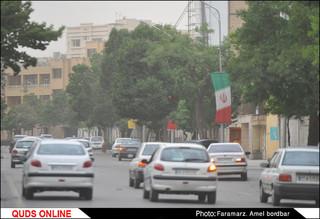 ریزگردها در مشهد طوفان کرد