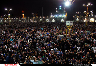 مراسم احیای شب بیست یکم ماه رمضان در حرم مطهر رضوی