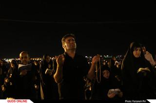 احیای شب بیست و سوم ماه مبارک رمضان در جوار کوه خضر حضرت نبی (ع) در قم