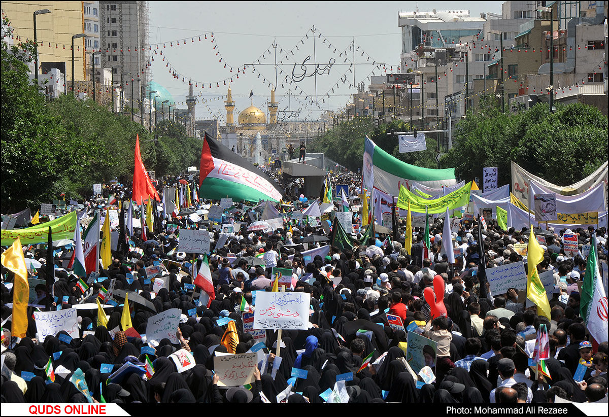 راهپیمایی روز جهانی قدس در مشهد/گزارش تصویری