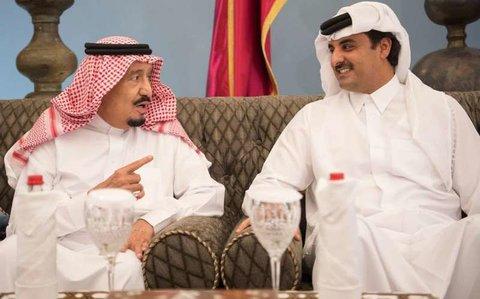 امیر قطر و ملک سلمان