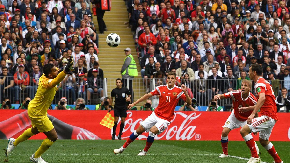 شکست تحقیرآمیز تیم ملی فوتبال عربستان مقابل روسیه در دیدار افتتاحیه