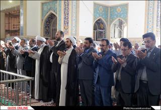 نماز باشکوه عید سعید فطر در حرم امام رضا(ع) اقامه شد/گزارش تصویری