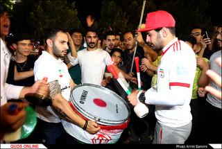 خوشحالی مردم از برد تیم ملی فوتبال در مقابل مراکش