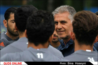 تمرین تیم ملی فوتبال ایران در روسیه