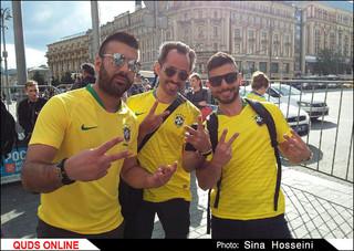 حضور پرشور هواداران فوتبال در روسیه