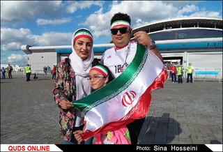حال و هوای ورزشگاه کازان روسیه ساعاتی قبل بازی ایران و اسپانیا