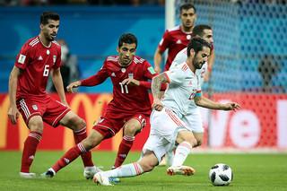 دیدار تیم ملی فوتبال ایران و اسپانیا