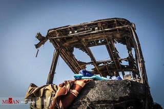 عکسهای منتخب تصادف تانکر سوخت با اتوبوس مسافربری در سنندج