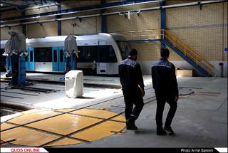 آیین رونمایی از تعمیر اساسی ناوگان خط یک قطار شهری مشهد