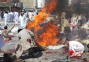 لحظه انفجار انتحاری تروریستهای داعش در بلوچستان پاکستان