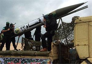 لحظه انفجار موشک فلسطینیها در سرزمینهای اشغالی