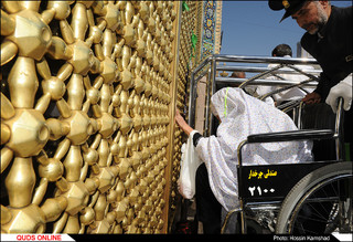 تشرف میهمانان ویژه امام رضا (ع) در قالب طرح معین الضعفا به حرم مطهر رضوی/گزارش تصویری
