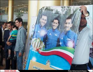 استقبال از رضا سخندان در مشهد