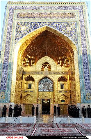 مراسم خطبه خوانی تحویل کشیک خدام حرم مطهر امام رضا (ع)/گزارش تصویری