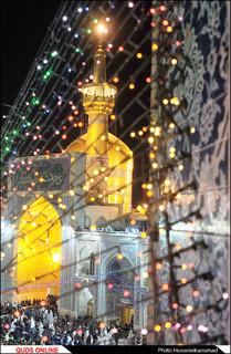چراغانی حرم مطهر رضوی در آستانه میلاد امام هشتم / گزارش تصویری