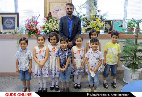 حضور کودکان گلستان علی علیه السلام در تحریریه قدس