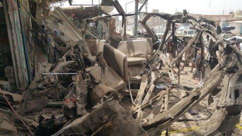 حمله به اتوبوس دانش آموزان یمنی