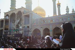 قرائت دعای پرفیض عرفه در شهر کریمه اهل بیت (ع)