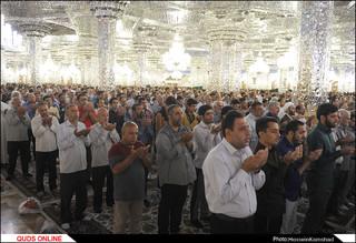 نماز باشکوه عید قربان در حرم رضوی اقامه شد/گزارش تصویری