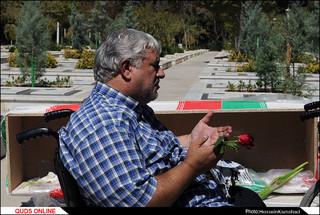 پیکر جانباز شهید علیاکبر قربانزاده تشییع شد/گزارش تصویری