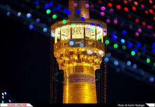 چراغانی حرم مطهر رضوی در شب عید غدیر