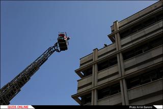 """مانور بزرگ """"حریق و تخلیه اضطراری ساختمان"""""""