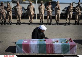 پیکر مطهر ۹ شهید گمنام دفاع مقدس و۲ شهید مدافع حرم در مشهد/گزارش تصویری