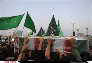 پیکر مطهر شهدای گمنام در مشهد تشییع شد/گزارش تصویری