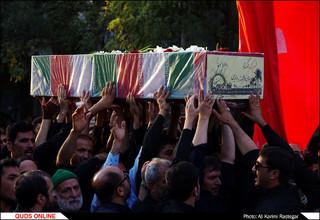 پیکر مطهر شهدای گمنام در مشهد تشییع شد