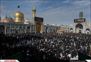 عزاداری روز عاشورا در حرم امام رضا(ع)/گزارش تصویری