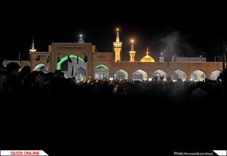 مراسم آیینی شام غریبان سیدالشهدا(ع) در حرم مطهر رضوی برگزار شد/گزارش تصویری