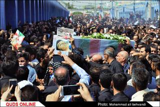 مراسم تشییع شهدای حادثه تروریستی اهواز