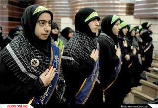 مراسم تحلیف فرماندهان واحدهای مقاومت پیشگام مدارس مشهد مقدس/گزارش تصویری