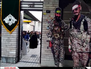 رونمایی از پلاک افتخار شهید مدافع حرم محمدرضا سنجرانی
