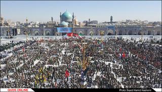 تجمع باشکوه 36000 بسیجی درحرم مطهررضوی
