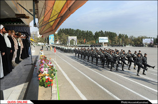 صبحگاه مشترک نیروهای مسلح به مناسبت هفته نیروی انتظامی در مشهد/گزارش تصویری