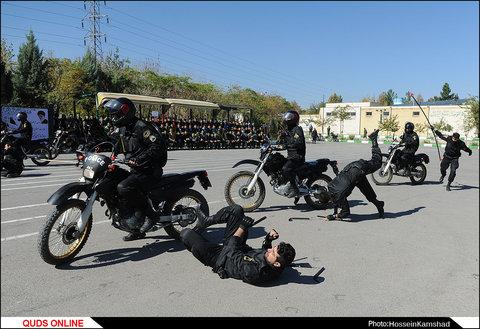 اردو فرهنگی رزمی دانش آموزی در یگان ویژه پلیس/گزارش تصویری