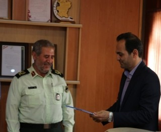 دیدار مدیر عامل شرکت آب منطقه ای همدان با فرمانده انتظامی