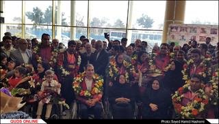 بازگشت افتخارآفرینان ورزشی به مشهد
