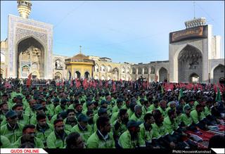 آیین بدرقه خدام اربعین حسینی در حرم مطهر رضوی برگزار شد/گزارش تصویری